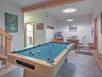 Play a game of billiards in the rec room when you have some down time.