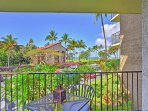 This sizable Kihei vacation rental condo boasts lovely ocean views from the private lanai
