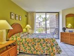 Wake up to refreshing ocean views from the private lanai off the master bedroom