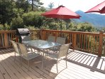Outdoor deck dining with a view, Grill, Seating for 6