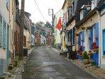 La rue des moulins quartier du courgain
