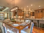 Gourmet kitchen designed to cook for a crowd - seat 10 at the farm table and four at the island
