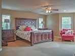 The master bedroom will be calling your name at the end of a long day.