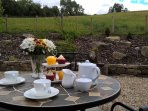 Why not have afternoon tea on the patio?