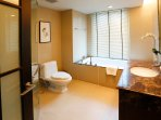 Front view of a bathroom (This bathroom can be accessed from the master bedroom)