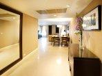 Living room hallway design