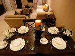 Romantic and elegant dinning table