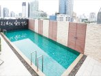20-meter pool at the roof top of the building
