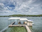 Private Two Well Dock With  Swimming Pool and Steps Into the Lake