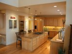 Very Large Kitchen with gas appliances: 5 burner stove and double oven -gas and convection