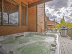 Soak your cares away with the private hot tub in this Fraser vacation rental house!