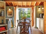 Leave the French doors open to let the fresh, east coast air flow through the property.