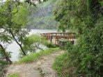 Lake front nature walk and diving platform.