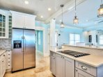 2nd Floor Kitchen feat. Stainless Steel Appliances and Breakfast Bar