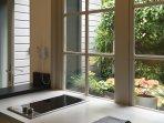 terrace from kitchen window