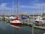 Birdham Pool Marina - a ten minute walk from the cottages