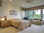 Enjoy expansive river views from the large windows!
