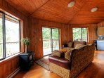 These units boast rustic charm with their local wood features