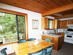 Boasting charming, rustic decor and a fully-equipped kitchen