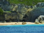 Secret coves and beaches are just a short walk or swim to the North of us as seen from a kayak.