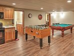 Engage in some friendly competition at the pool and foosball tables.