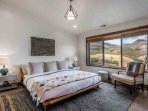 The master bedroom (1) features a king size bed, HDTV with entertainment center, lounge chair, new furniture and...
