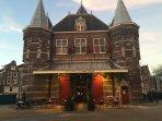 Cafe restaurant 'de Waag' at the Nieuwmarkt near 'red light district'