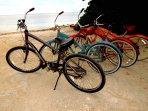 The beach bikes!!