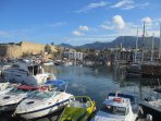 Lovely harbour and castle in the pictureseque town of Kyrenia/Girne 25 mins away by car