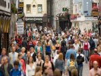 Busy Shop street in Galway City
