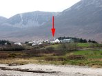 This property nestles beneath Croagh Patrick and is a stone's throw from Lecanvey beach