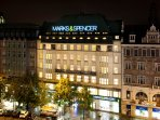 Wenceslas Square with Marks and Spencer building where is the apartment