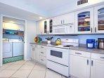 We provide detergent for the dishwasher,  Ziplock bags, plastic wrap, aluminum foil.