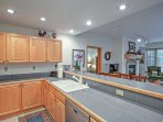 Ample counterspace will make cooking a breeze in the kitchen.