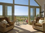 Solva luxury holiday home with spectacular sea views over St Brides Bay from the sitting room