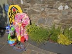 Solva family friendly holiday home with surf boards for kids and fresh herbs for cooking