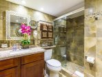 Bathroom1:  comes with rain shower, vanity mirror, hair dryer