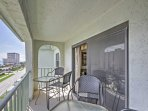 Step out onto the balcony for fresh air!