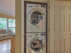 Brand new laundry machines are included for your convenience.