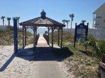 Public beach access in front of condo