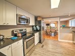 Prepare tasty homecooked meals in the fully equipped kitchen.