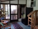 Lanai with extra Refrigerator/Freezer with icemaker, Dry Bar, Dining table seats 6. Overlooks canal.