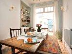 2.2 metre oak dining table