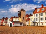 A stones throw from the shingle beach