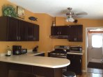 Those who like to cook will enjoy the well-appointed kitchen.