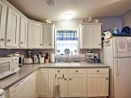 The kitchen is fully equipped with everything you need to prepare tasty meals.