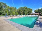 Take a dip in the community's pool and hot tub!