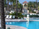 Enjoy the lazy river, hot tub, waterslide, onsite gym, spa, restaurants, wow!