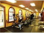 Enjoy the onsite gym at the Resort.
