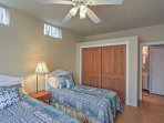 The 2nd bedroom boasts 2 comfortable twin-sized beds.